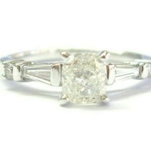 Jewelry - Fine Cushion Baguette & Round Princess Cut Diamond